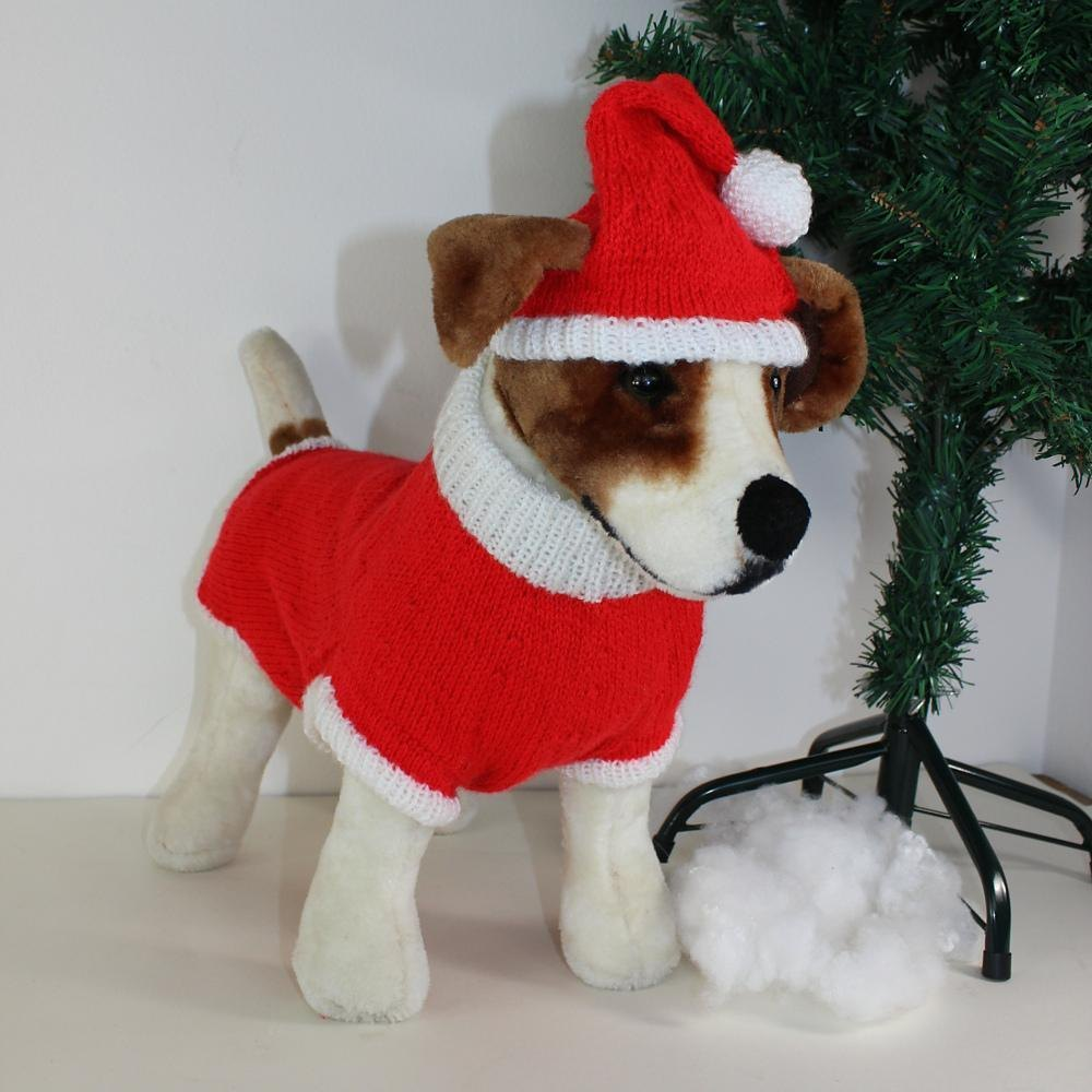Dog christmas santa hat and coat knitting pattern by madmonkeyknits zoom bankloansurffo Image collections