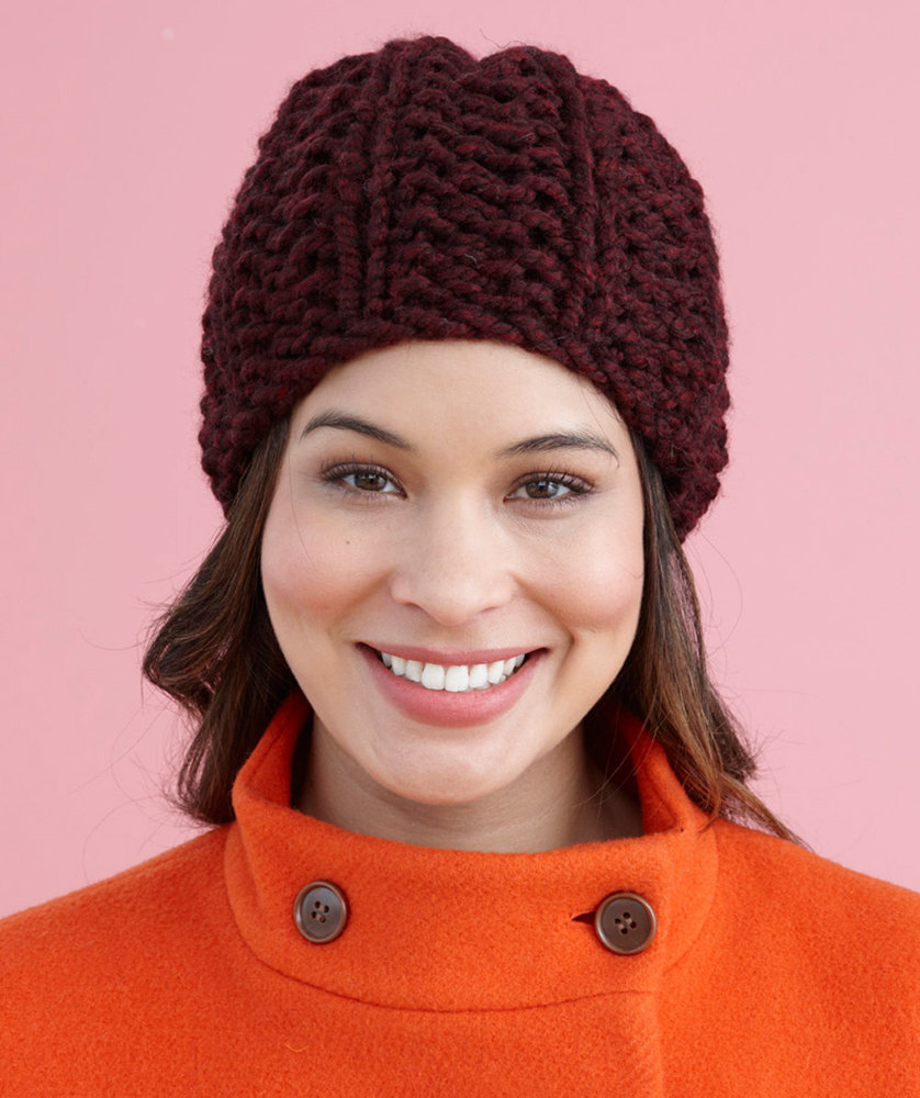 Brisbane Hat in Lion Brand Wool-Ease Thick   Quick - L20506C. Free. Free  pattern 7143ece916f