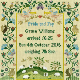 Bothy Threads Pride & Joy Sampler Cross Stitch Kit - 24cm x 25cm