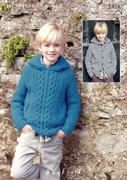 Hooded Sweater and Cardigan in Hayfield Bonus Aran with Wool - 2424 - Downloadable PDF
