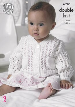 Cardigan, Waistcoat and Blanket in King Cole Baby Glitz DK - 4397 - Downloadable PDF