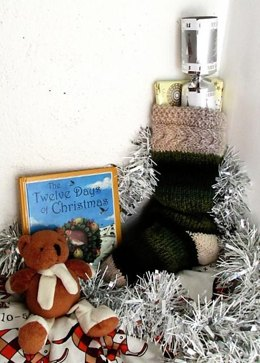 Cabled Cuff Christmas Stocking