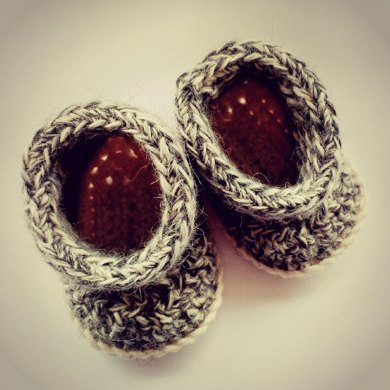 Simple Crochet Baby Booties/Shoes