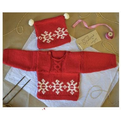 Love Knitting Christmas Jumper And Hat For Babies Toddlers
