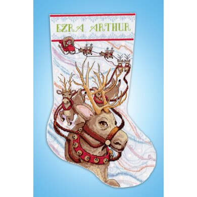 Design Works Reindeer Ride Stocking Counted Cross Stitch Kit