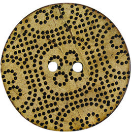 Dotted Coconut 38mm 2-Hole Button