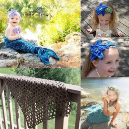 Set of 4 Mermaid Patterns