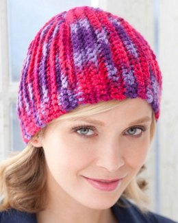 Martha Beanie in Red Heart With Love Multis - LW3076