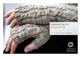 """Harvest Mitts by Irina Anikeeva"" - Gloves Knitting Pattern For Women in The Yarn Collective"