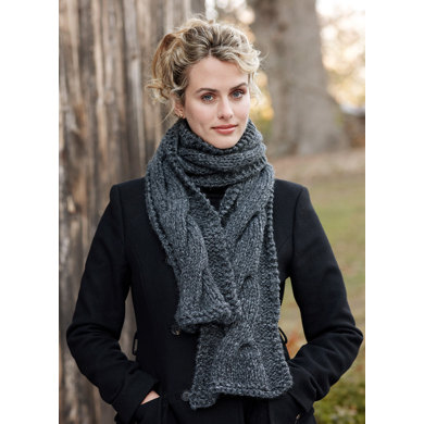 Cable Panel Scarf in Lion Brand Wool-Ease Thick & Quick - 81057C
