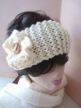 336, KNITTED HEADBAND AND KNITTED FLOWER