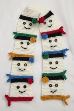 Snow People Neck Scarf