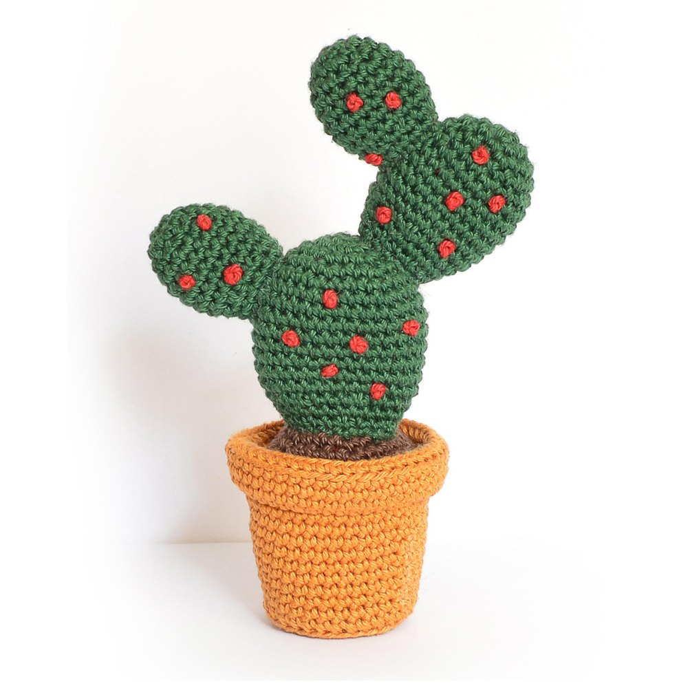 Prickles & Peak Knit Cactus in Red Heart Amigurumi - LM6291 ... | 1000x1000