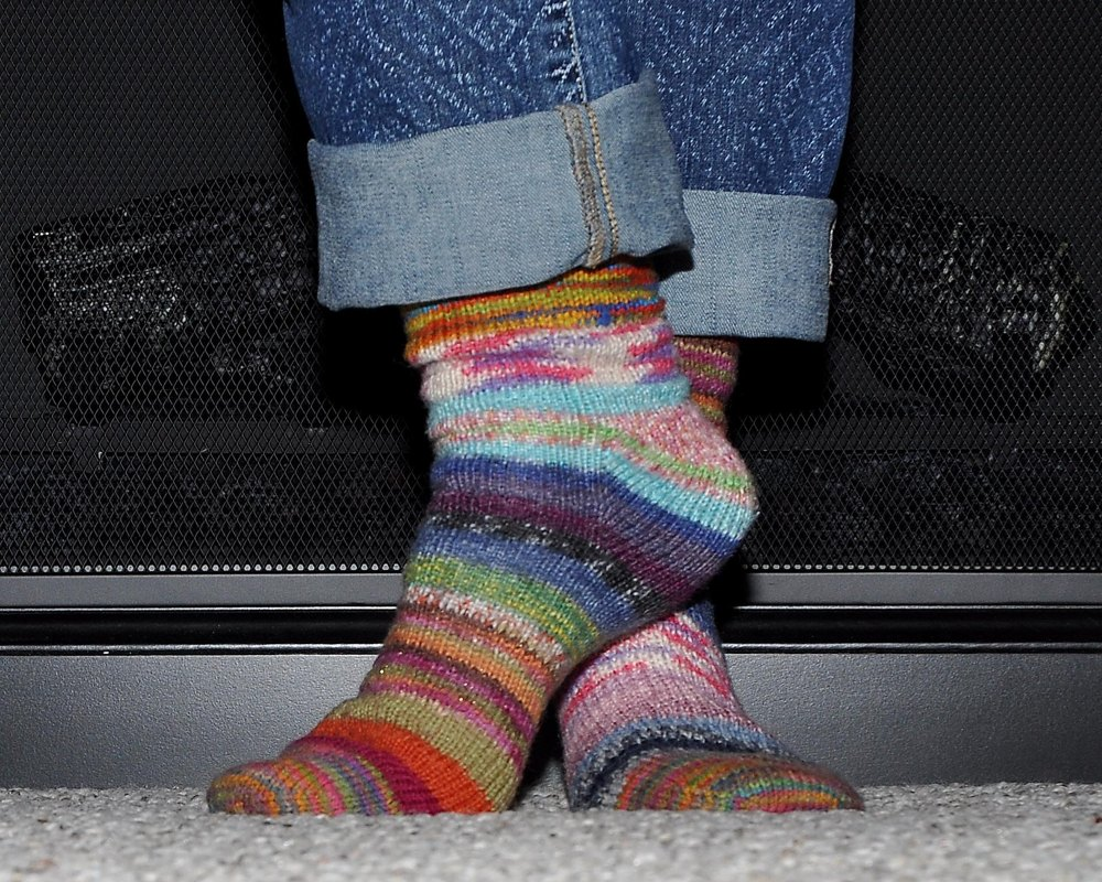 Basic Toe Up Socks Knitting Pattern By Wendy Goeckner