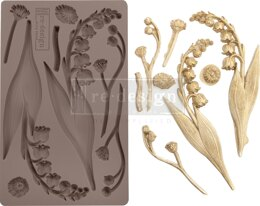 "Prima Marketing Re-Design Mould 5""X8""X8mm - Bell Orchids"