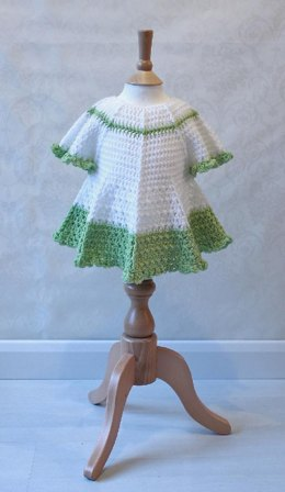 Summer Dress with Full Circle Skirt & Cap Sleeves