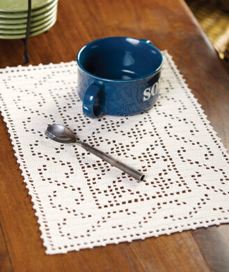 Celtic Placemat In Red Heart Aunt Lydias Classic Crochet Thread