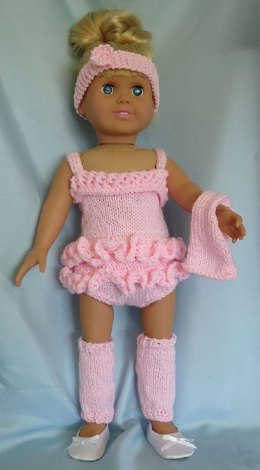 Dance Practice, Knitting Patterns fit American Girl and other 18-Inch Dolls