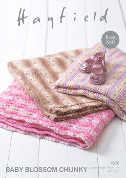 Blankets in Hayfield Baby Blossom Chunky - 4676- Downloadable PDF