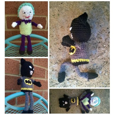 gratis free:Chibi Joker From Batman pattern by Chelsea Thomas This ... | 390x390