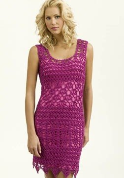 Crochet Sleeveless Dress in Tahki Yarns Cotton Classic