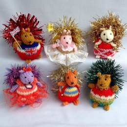 Fuzzy Tots - squirrel Christmas decorations