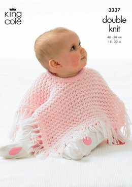 Ponchos in King Cole Comfort DK - 3337