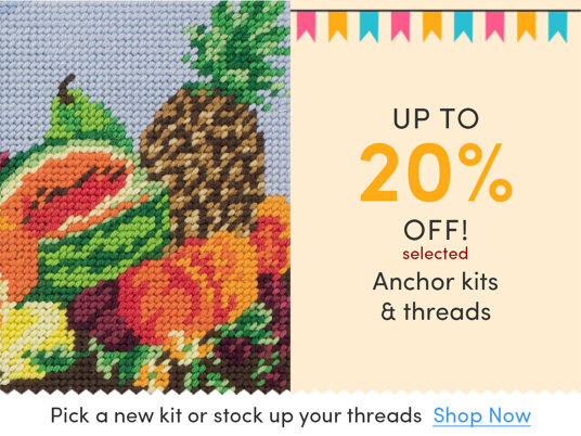 Up to 20 percent off selected Anchor stitching kits & threads