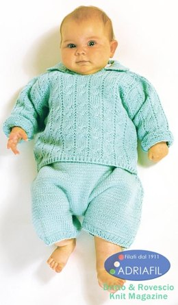 Paperelle Set in Adriafil Nice Baby, Dolcezza and Azzurra - Downloadable PDF