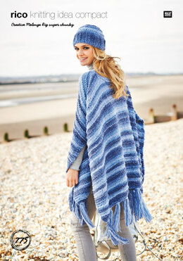 Ponchos & Hat in Rico Creative Melange Big Super Chunky - 775 - Downloadable PDF