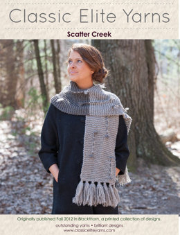 Scatter Creek Scarf in Classic Elite Yarns MountainTop Blackthorn - Downloadable PDF