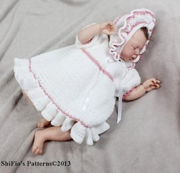 Country Baby Dress Crochet Pattern #124