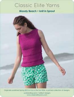 Moody Beach Top in Classic Elite Yarns Sprout - Downloadable PDF