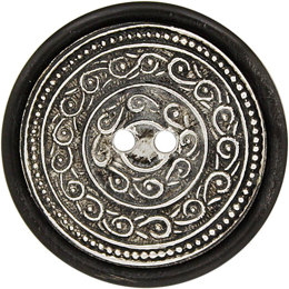 Patterned Center Horn 41mm 2-Hole Button