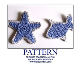 Crochet Starfish and Fish