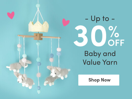 Up to 30 percent off baby and value yarn
