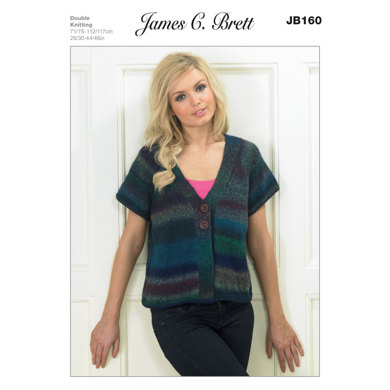 Jacket in James C. Brett Marble DK - JB160