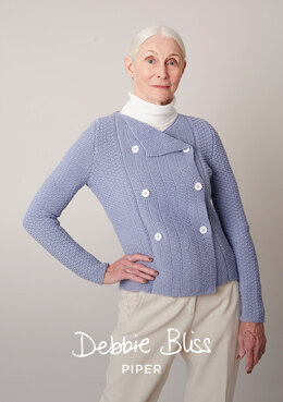 Cecilia Jacket in Debbie Bliss Piper - DB302 - Downloadable PDF