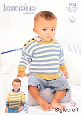 Sweaters in Stylecraft Bambino DK - 9603 - Downloadable PDF