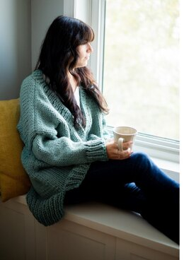Back to Basics - Knit Cardigan in Lion Brand - L90157 - Downloadable PDF
