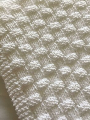 Quick And Easy Basket Weave Baby Blanket Knitting Pattern