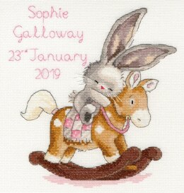 Bothy Threads Rock A Bye Bunny Cross Stitch Kit - 20cm x 22cm