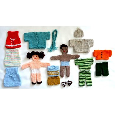Knitted Paper Dolls