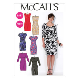 McCall's Misses'/Miss Petite Dresses M7085 - Sewing Pattern