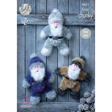 Christmas Santas in King Cole Tinsel Chunky - 9031 - Leaflet