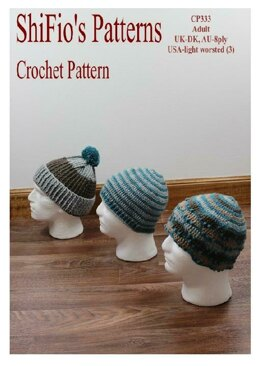 Crochet pattern Highland Hats #333