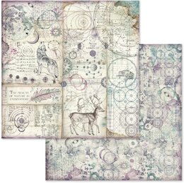 """Stamperia Intl Stamperia Double-Sided Paper Pad 8""""X8"""" 10/Pkg - Cosmos, 10 Designs/1 Each"""