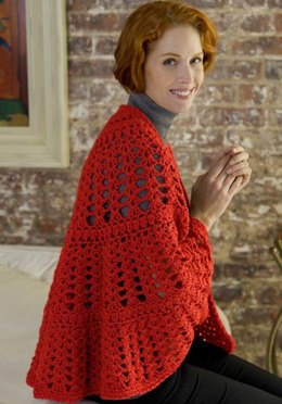 Have a Heart Shawl in Red Heart Super Saver Jumbo Solids - LW2988
