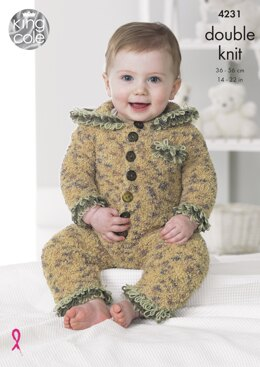 Baby Set in King Cole DK - 4231 - Downloadable PDF