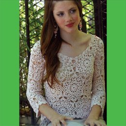The plus size crochet Tunic Lace Pattern